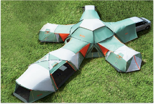 16 Person Tent With Dining Area amp Car Port